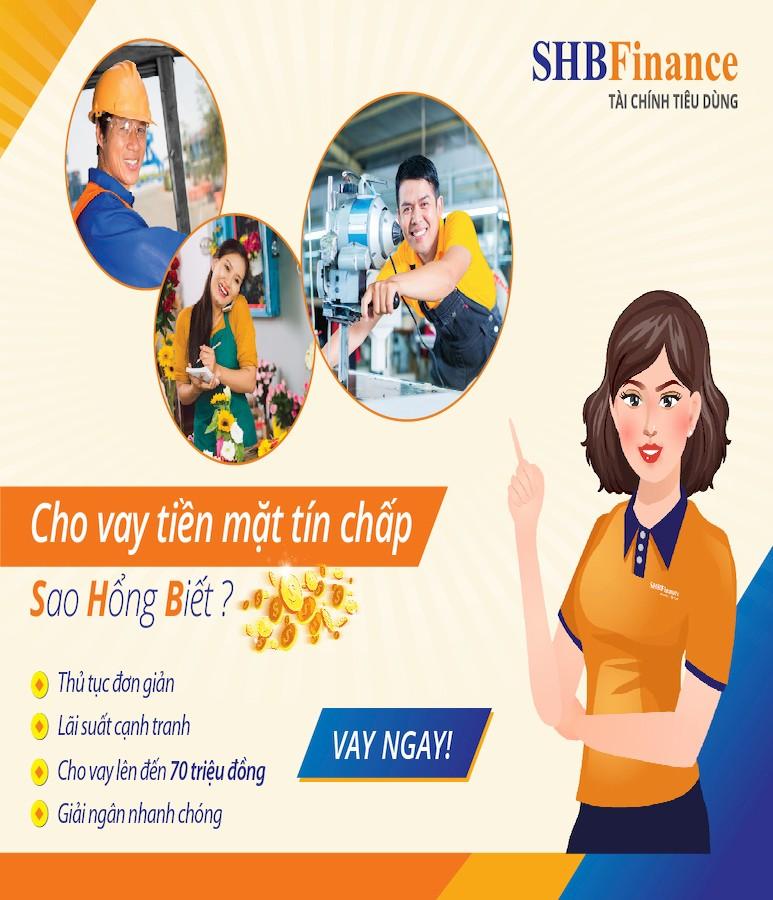 SHB Finance cho vay tiền trả góp