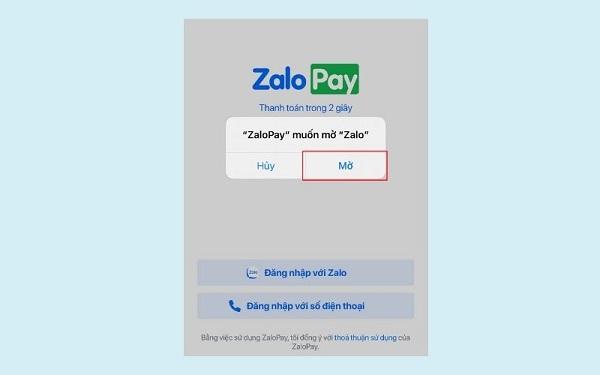 Cho phép ứng dụng truy cập vào tài khoản